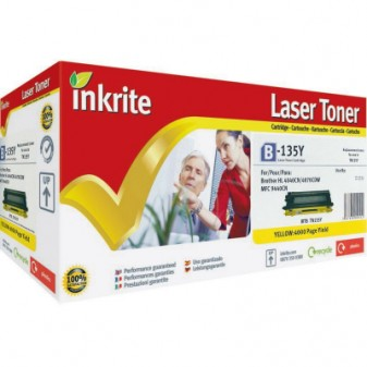 Compatible Brother TN135Y High Yield Yellow Laser Toner Cartridge