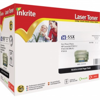 Compatible HP 55X (CE255X) High Yield Black Laser Toner Cartridge