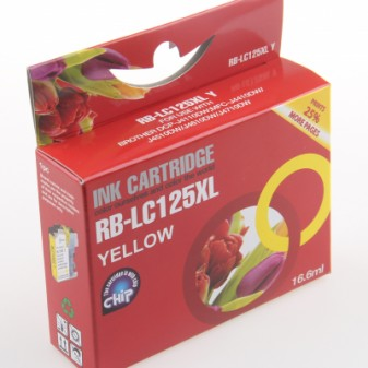 Compatible Brother LC125XLY High Yield Yellow Inkjet Cartridge