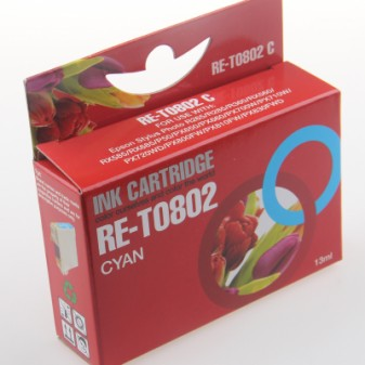 Compatible Epson Hummingbird (T0802) Cyan Inkjet Cartridge