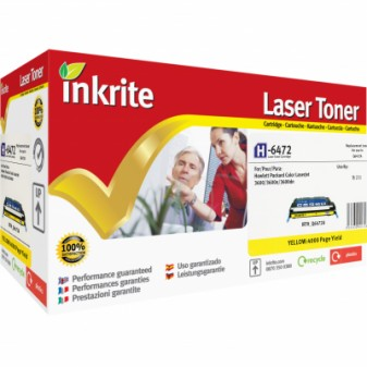 Remanufactured HP 502A (Q6472A) Yellow Laser Toner Cartridge