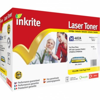 Remanufactured HP 642A (CB402A) Yellow Laser Toner Cartridge