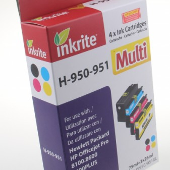 Set of 4 Compatible HP 950XL & 951XL (CN045/6/7/8AE) High Yield Inkjet Cartridges