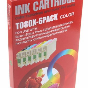 Set of 6 Compatible Epson Hummingbird (T0807) Inkjet Cartridges