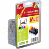Set of 4 Compatible Brother LC41/LC47/LC900 Black Cyan Yellow & Magenta Inkjet Cartridges