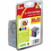 Set of 4 Compatible Brother LC51/LC970/LC1000 Black Cyan Yellow & Magenta Inkjet Cartridges