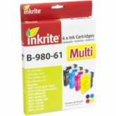 Set of 4 Compatible Brother LC61/LC980/LC65/LC1100 Black Cyan Yellow & Magenta Inkjet Cartridges