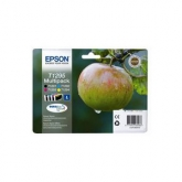 Set of 4 Original Epson Apple (T1295) High Yield Black Cyan Magenta & Yellow Inkjet Cartridges